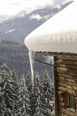 Österreich, Salzburger Land, Hütte in den Bergen