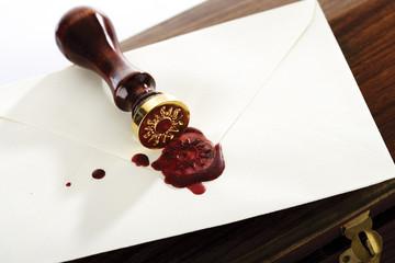 Siegel auf einem Umschlag