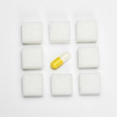 Pille und Zuckerwürfel,