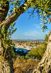 View  of Turre near Mojacar Almeria Province Andalusia Spain