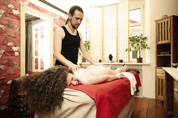 Tender healing tantra massage in studio