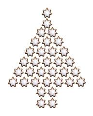 Cinnamon Cookies in Form von Weihnachtsbaum,