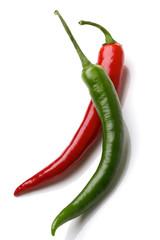Rote und grüne Paprika