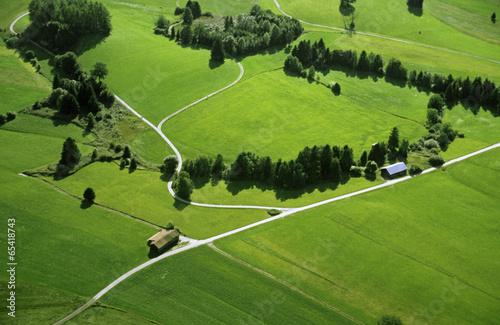 Deutschland, Bayern, Felder und Wiesen, Luftbild