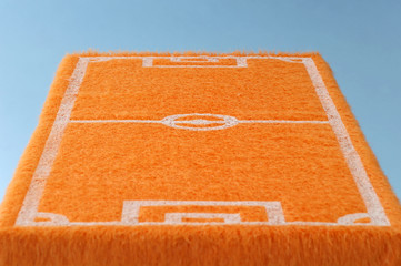 Orangene Fußballplatz Fußmatte