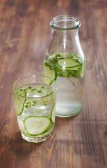 Detox cucumber water
