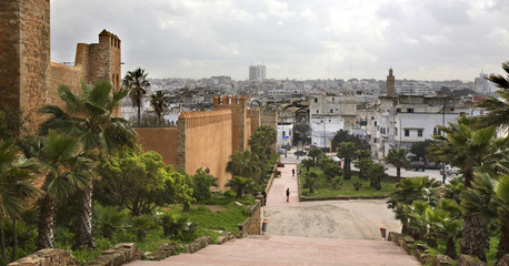 Kasbah of the Udayas in Rabat. Morocco