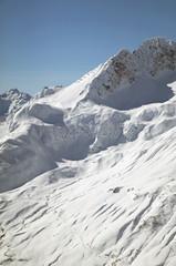 Österreich, Vorarlberg, Lech, Schnee bedeckte Berge