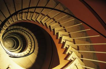 Wendeltreppe, Ansicht von oben