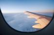 Blick aus Flugzeug, Tragfläche