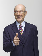 Geschäftsmann Handbewegung, Portrait