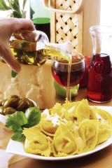 Tortellini mit Olivenöl