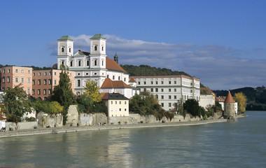 Studienkirche in Passau, Bayerischer Wald, Deutschland
