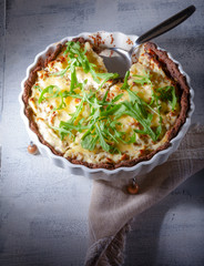 Cheese and vegetable quiche