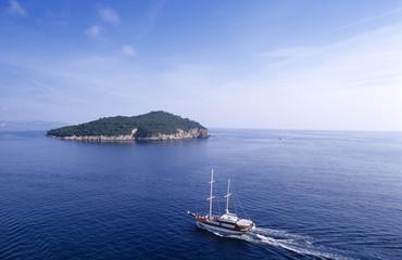 Kroatien, Dubrovnik, Gefangenen Insel