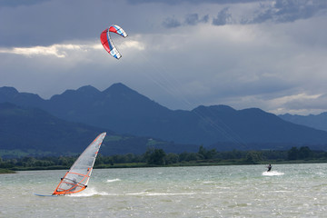 Kiteboard, Chiemsee, Bayern