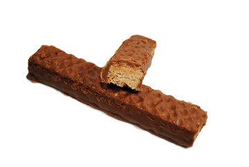 Wafer and Peanut Butter Covered with Chocolate