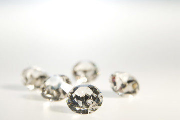 Falsche Diamanten, close-up