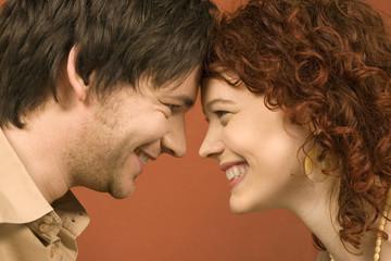 Paar lächelnd, Profil