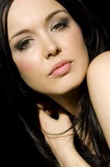 Porträt von hübscher Frau