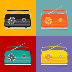 The vintage transistor radio.