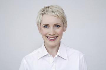 Frau jung lächeln, Porträt