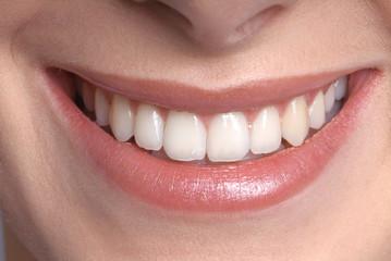 Weiblich Mund, lächeln, detail