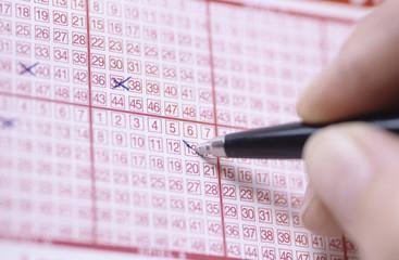 Stift, Markierungen auf Lotterielos