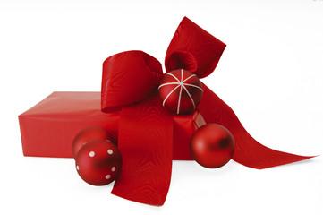 Rotes Weihnachtsgeschenk