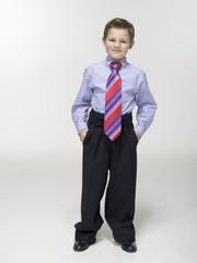 Junge tragen Business Kleidung, Anzug Portrait