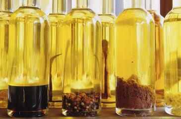 Olivenöl mit Gewürzen und Kräutern, Costa Brava, Katalonien, Spanien