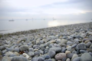 Deutschland, Steine __auf dem Bodensee