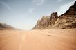 Leinwandbild Motiv Desert landscape - Wadi Rum, Jordan