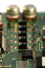 Computer chip on circuit