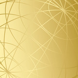 golden background with meridians - vector poster