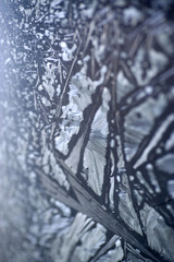 Eiskristalle, extreme Nahaufnahme