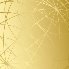 golden background with meridians - vector