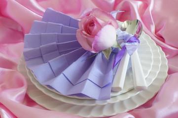 Elegant origami napkins