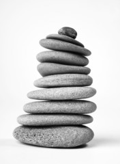 Stapel Steine gestapelt
