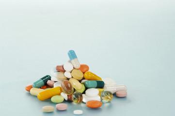 Verschiedene Pillen, Tabletten