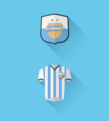 Argentina jersey and crest vector