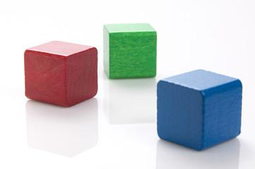 Farbige Bausteine
