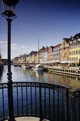 Boote am Kanal, Kopenhagen, Dänemark