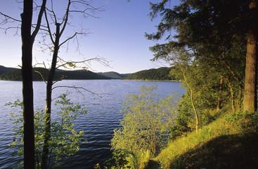 Saalekaskaden bei Hohewarte damm, Thüringen, Deutschland