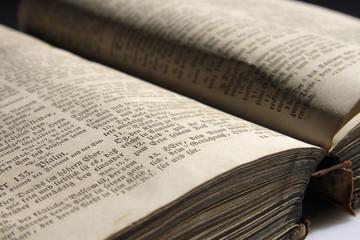 Alte Bibel, close-up