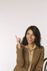 Frau jung, zeigen Finger, Portrait
