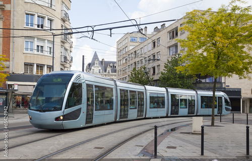 Modern tram in Valenciennes