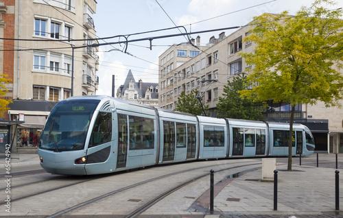 Leinwandbild Motiv Modern tram in Valenciennes