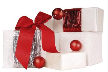 Dekoriert Weihnachtsgeschenke