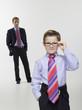 Vater und Sohn in Business Kleidung Anzug, Portrait